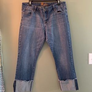 Frayed Kut from the Kloth cropped straight jeans